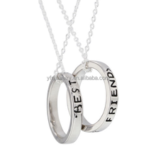 Fashion Ring Holder Necklace,Best Friend Necklace,Silver Fashion Necklace