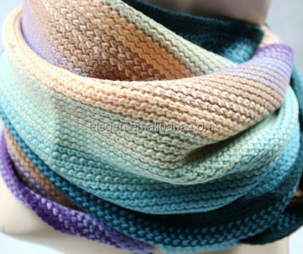 High Quality Acrylic Wool Winter Striped <strong>Scarf</strong>