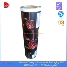 matte ink printed laminated material dried fruit food packaging film roll