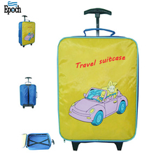 Hot sell professional polyester cartoon children suitcase outdoor travel trolley luggage