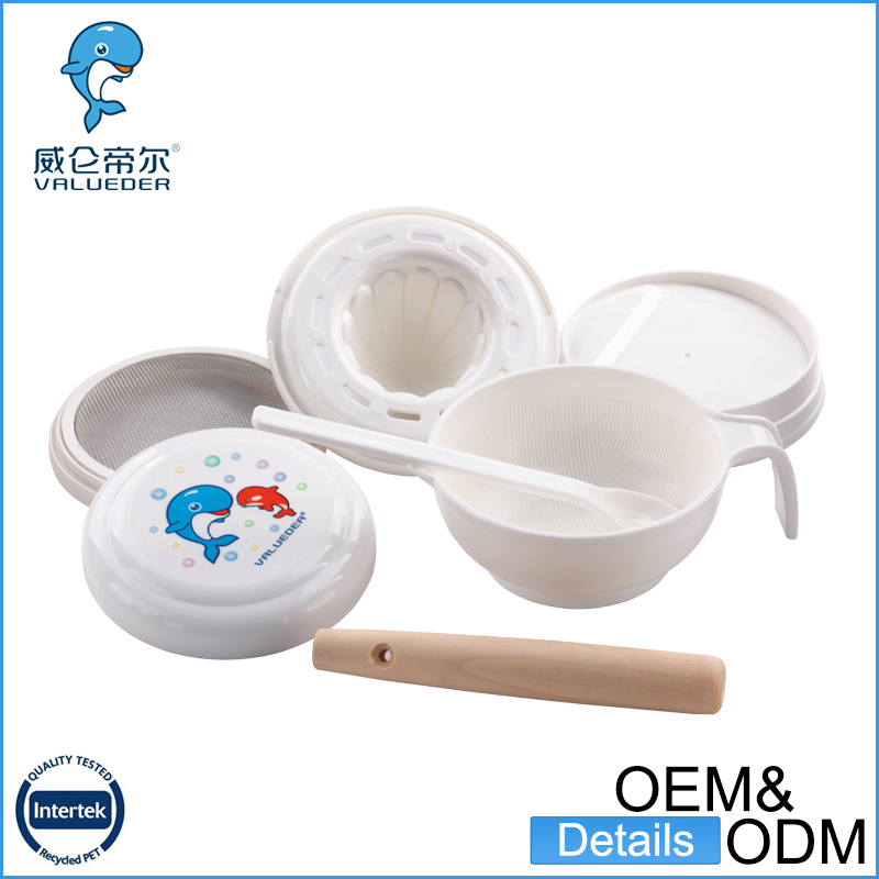 2016 New arrival cute mold pp baby tableware set