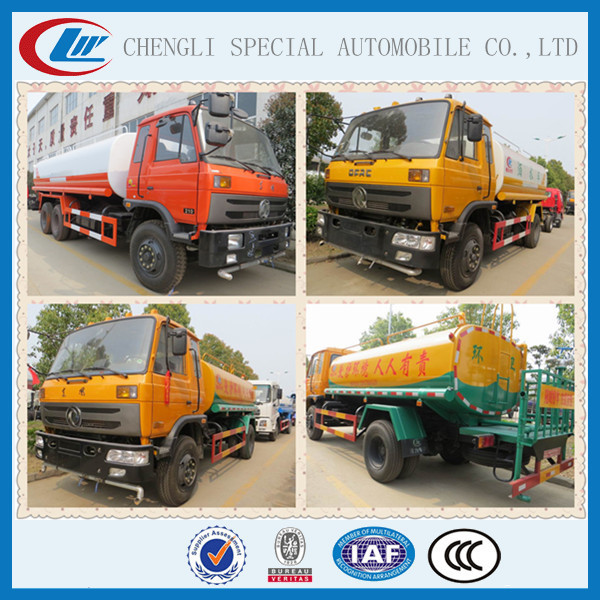 Dongfeng Land and Water Tank Farm Street Green Garden Spray Springkler Truck Water Cannon Vehicles 12000L