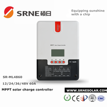 SRNE 12V/24V/36V/48V 60A MPPT Solar Charge Controller for Solar Home System ML4860 with PC Monitoring