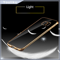 Custom Cover For Samsung Galaxy S7 Edge / A9 /A510 2016 /A310 2016 / J5 /J7 For Oppo R9 / R7,Clear Electroplating TPU Case