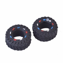 Tyre Shape Squeaky Pet Toys Rubber Dog Toys Make Sound Dog Play Toys