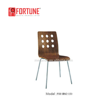 New design stackable wooden restaurant chair(FOH-XM42-150)
