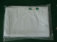 PVC laminated fireproof fabric white fabric