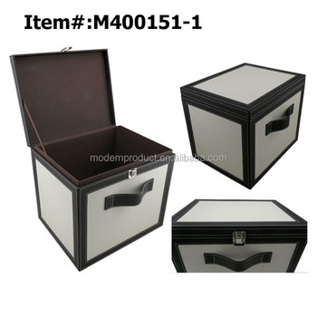 Decorative leather storage box