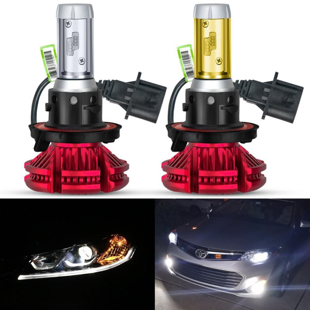 USA FREE SHIPPING Pair Hi/Lo Beam 9008 P hilips ZES Chip 120W X3 H13 LED Headlight Bulb