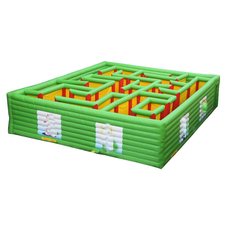 Customized Laser Inflatable Obstacle Course Combo Corn Maze