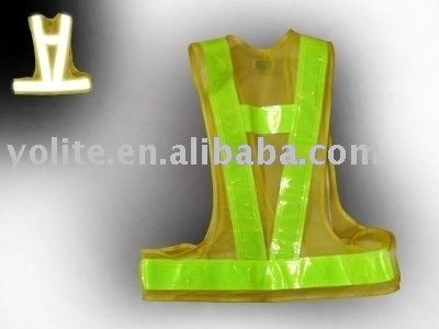 reflective high visibility vest with EN471 Class 2 standard