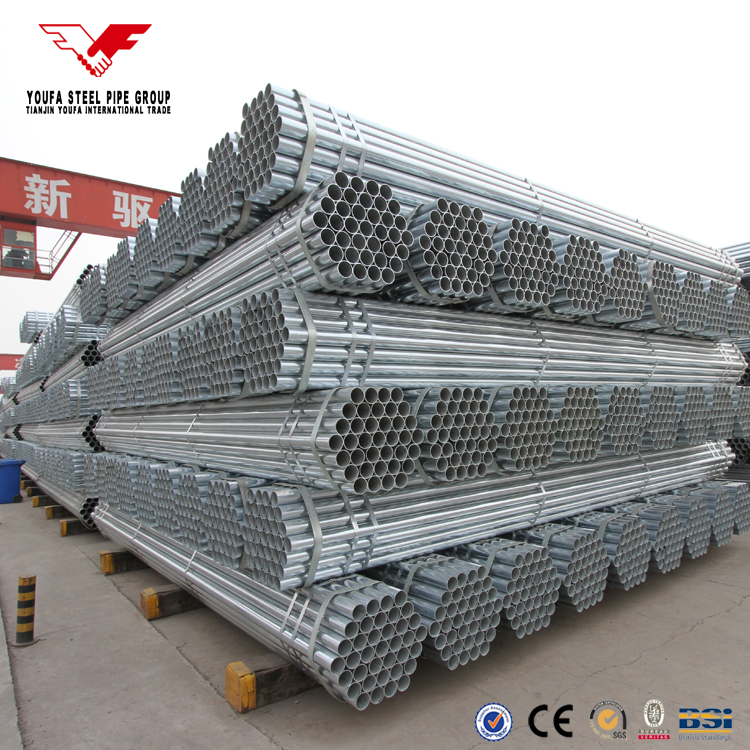 thin wall galvanized steel 6 inch water delivery pipe