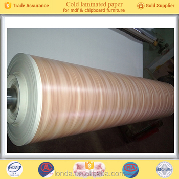 Factory Wholesale Wood grain laminated paper for plywood