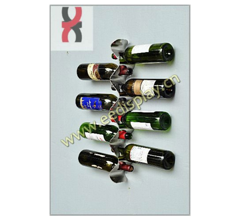 <strong>S</strong>-shape wall-mounted wine display rack-8 bottles
