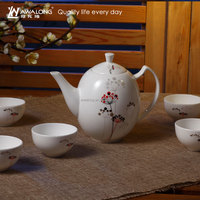 900ml Small Pattern Fine Bone China Chinese Gongfu Tea Set, Tea Set Manufacturers China