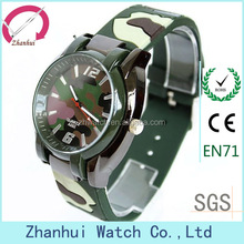2014 pu leather army green wrist watches for men