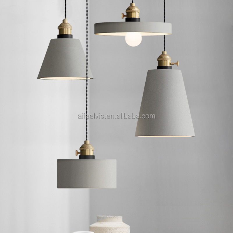 High quality brass lampholder industrial vintage cement loft lamp lighting for living room or restaurant