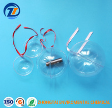 Openable transparent plastic ball decoration,Hollow plastic balls Plastic Christmas Ball Transparent