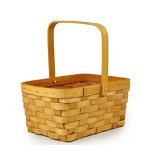 The Lucky Clover Trading Honey Woodchip Swing Harvest Handle Baskets