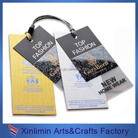 cheap custom plastic hang tag for clothing tag