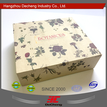 Beautiful shaped cardboard textile printed paper box
