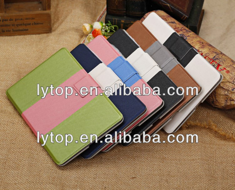 Hot selling colorful flip leather wallet case for Google Nexus 7 7 inch