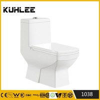 KL-1038 Hot sale westerm one piece toilet bathroom floor mounted toilet bowl cheap price
