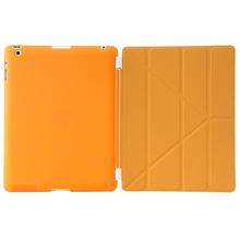 Factory Outlet Auto Wake Sleep Function Ultra-thin PU Leather smart case for ipad 4