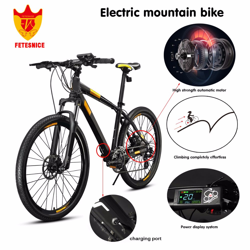 New design electric moped 36V 5.8Ah lithium e bike battery 26 inch fat electric bike bicycle
