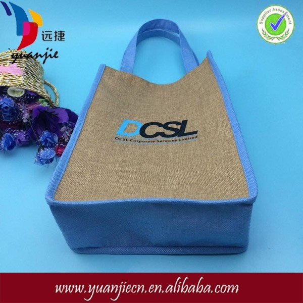 Shenzhen China plain custom printed burlap jute tote bags wholesale