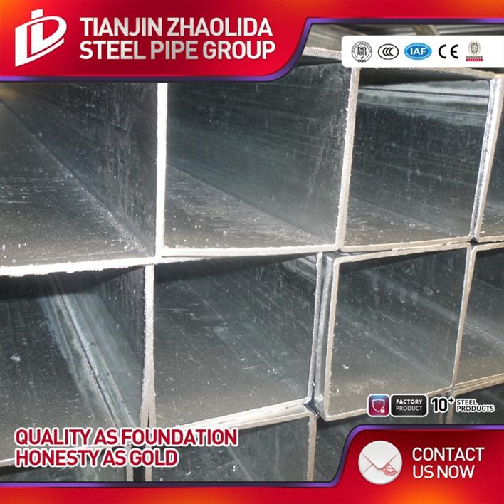 Mild / Carbon china galvanized pipe 120g zinc gal 1 inch steel tubing gi welded square pipes made in Tianjin China