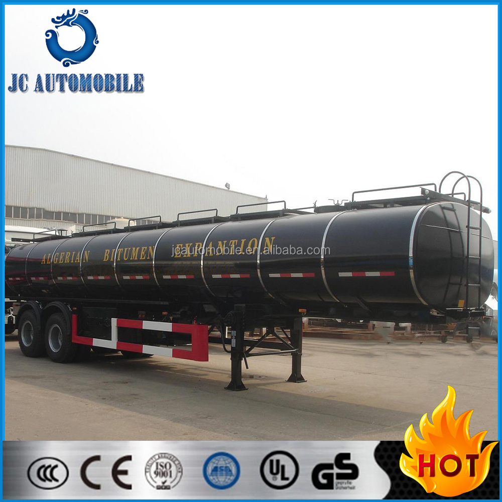 High quality 2 axles Insulation fuel tank semi-trailer/Asphalte tanker for sale
