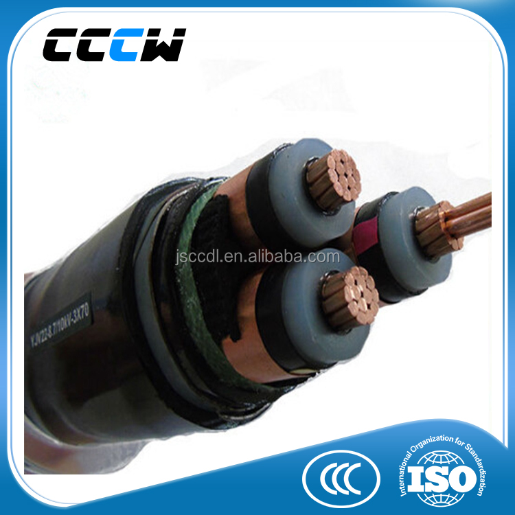 PVC flexible wire 3x70 braided power cord