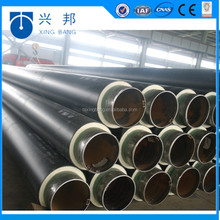 Underground pre-insulated pipe with insulation materials and hdpe sleeve for hot and cooling water pipeline system