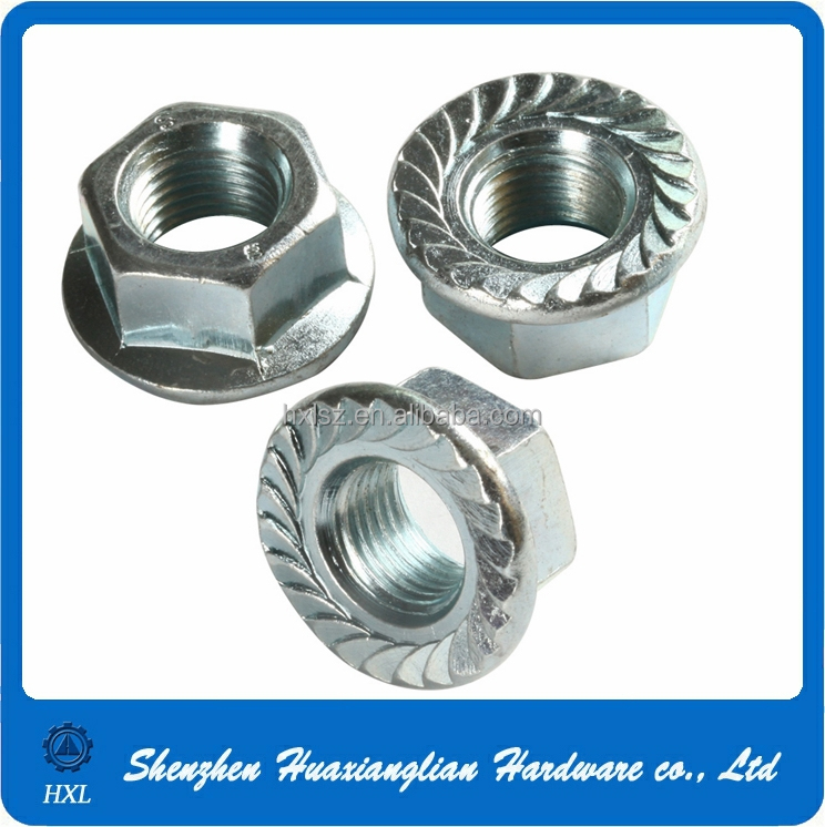 Din 6923 Stainless Steel 304 Hexagon Serrated Flange Nut