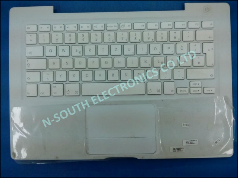 2014 wholesale lots for sale laptop keyboard for apple a1181 German version white with palmrest