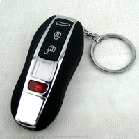 Professional manufacturer supply fashional design usb chargered lighters car keys shape led usb electric lighter