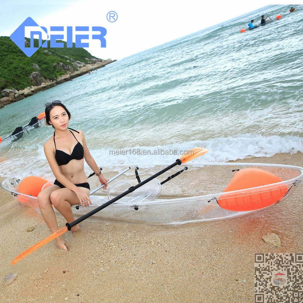 Transparent cheap plastic foot pedal kayak