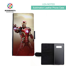 2017 New Item Sublimation Blanks For Samsung Note 8, Blank Flip Leather Case For Samsung Note 8, Blank PU Leather Case