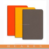 Huaben 2015 custom composition notebook with leather material cover