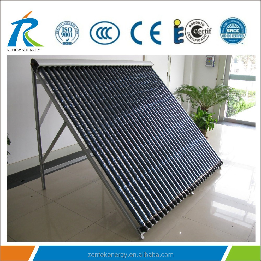 Heat pipe vacuum tubes solar collector for solar hot water teater 30 tubes