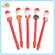 Economic crazy selling polyresin Christmas ballpoint pen