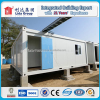 Folding movable prefabricated container house for shop/exhibition fireproof