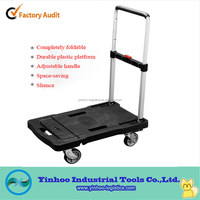 recyclable storage folding/foldable plastic hand truck