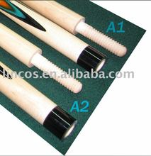 Wood joint carom pool cues
