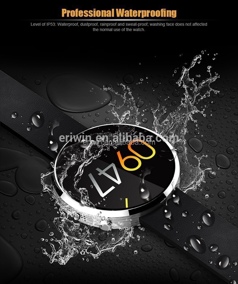 Luxury Waterpfoof DM360 heartrate monitor heart rate fitness tracker bluetooth smart watch pedometer