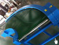 curve belt conveyor system for shoes