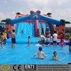 Commercial adult kids water park inflatable slide with pool