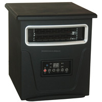 Black Portable Infrared Quartz Space Heaters with High Quality