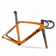 2017 hot sale color painting UD glossy finishing AERO super light carbon road bicycle frame